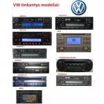 WEFA USB/AUX Volkswagen skaitmeninis muzikos priedėlis