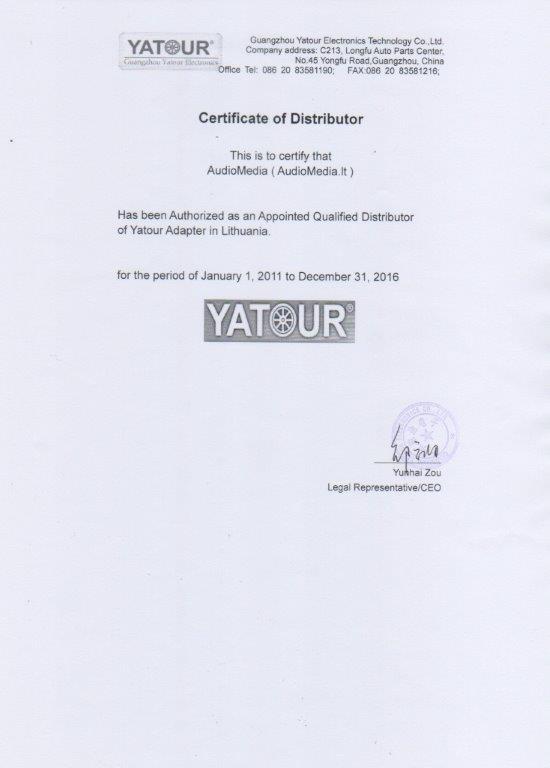 Autorizuotas Yatour tiekėjas Lietuvoje